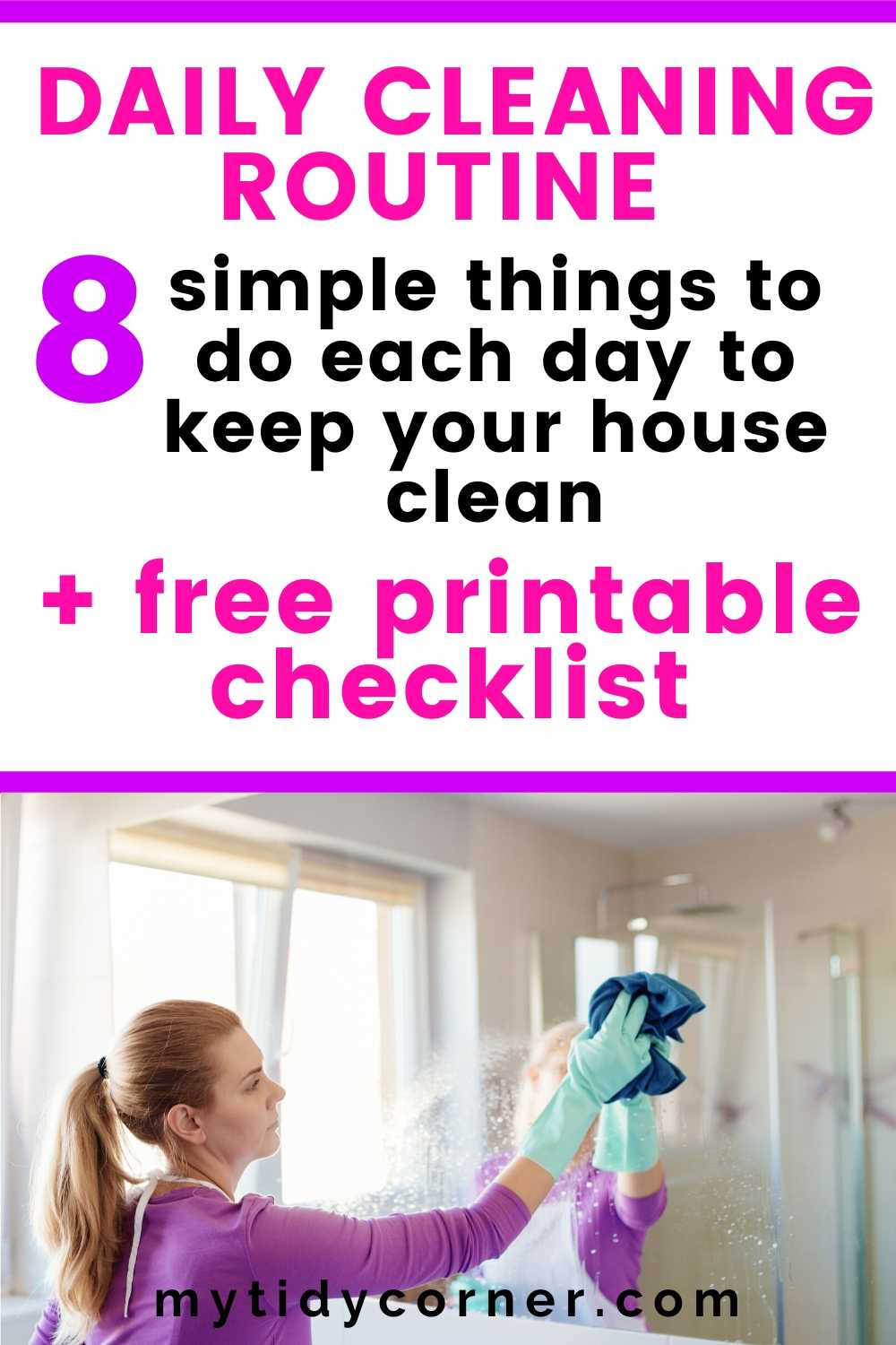 Things to do each day to keep your house clean (Daily cleaning routine)