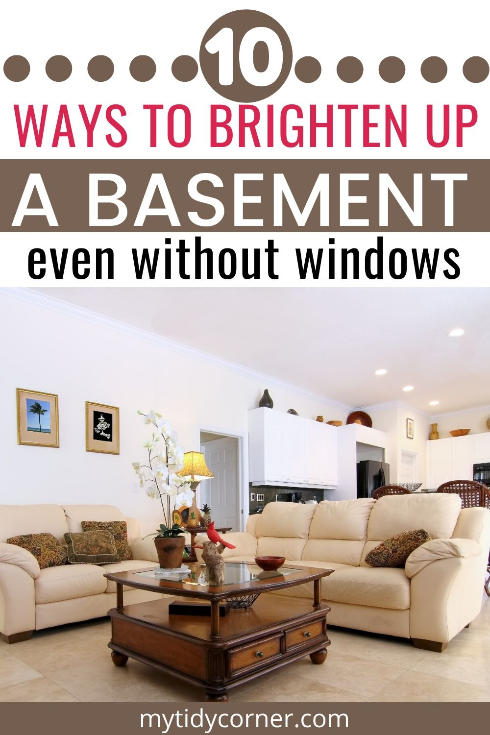 Ways to brighten up a basement