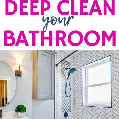 How to Deep Clean a Bathroom