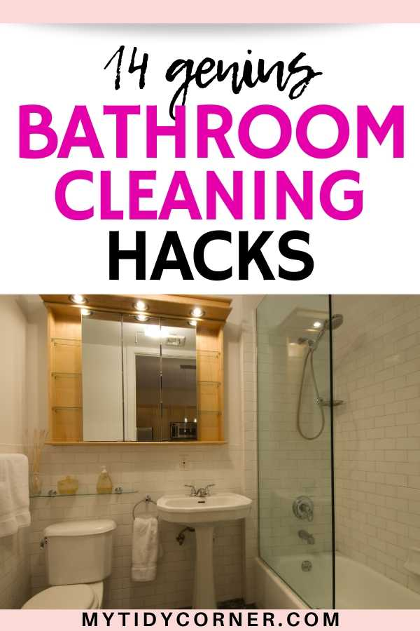 Easy bathroom cleaning tips
