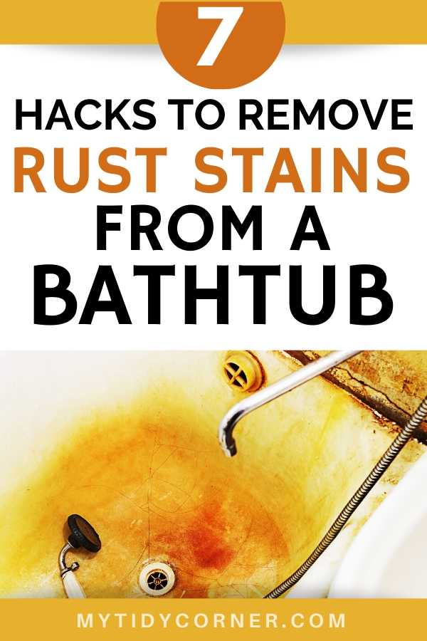Removing rust stains from a bathtub