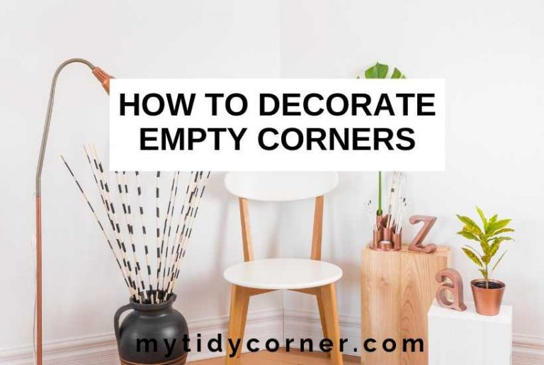 How to decorate empty corners in a room