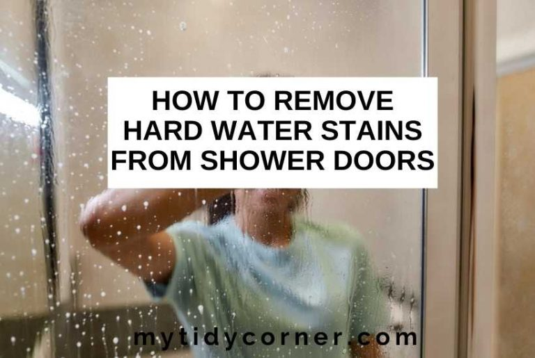 How to remove hard water stains from shower doors
