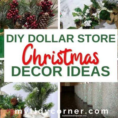 12 DIY Dollar Store Christmas Decor Ideas