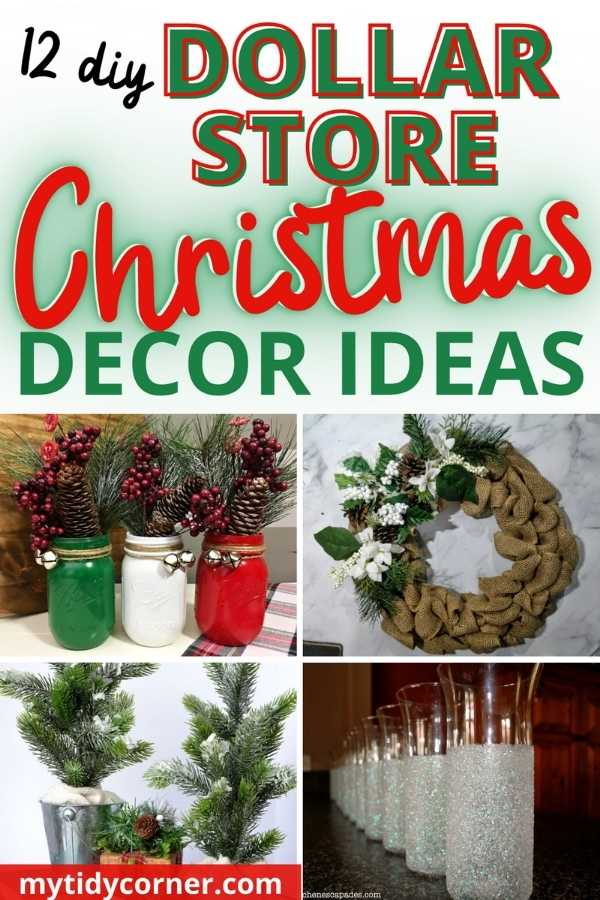 Inexpensive DIY Dollar Store Christmas decoration ideas