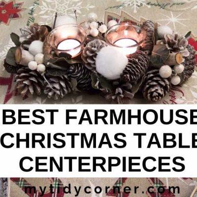 7 Farmhouse Christmas Table Centerpieces