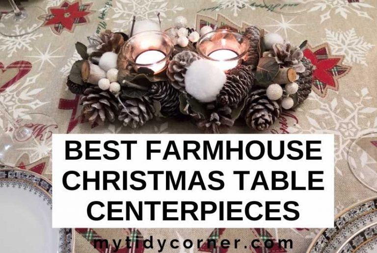 Best farmhouse Christmas table centerpieces