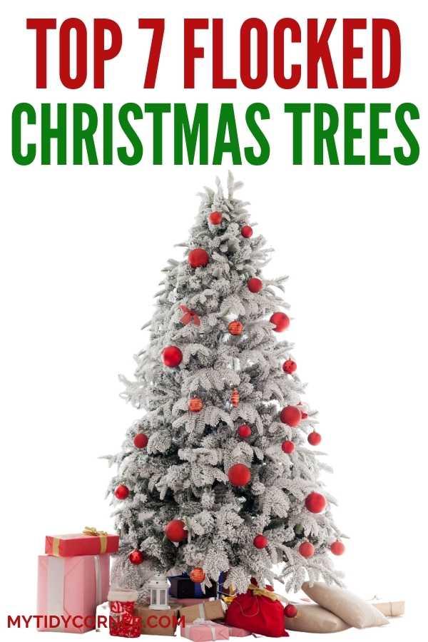Top flocked Christmas trees