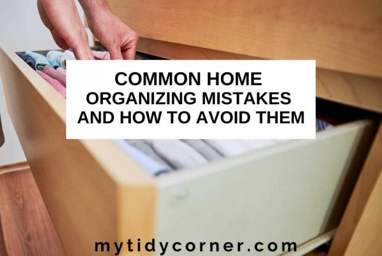 Common home organizing mistakes