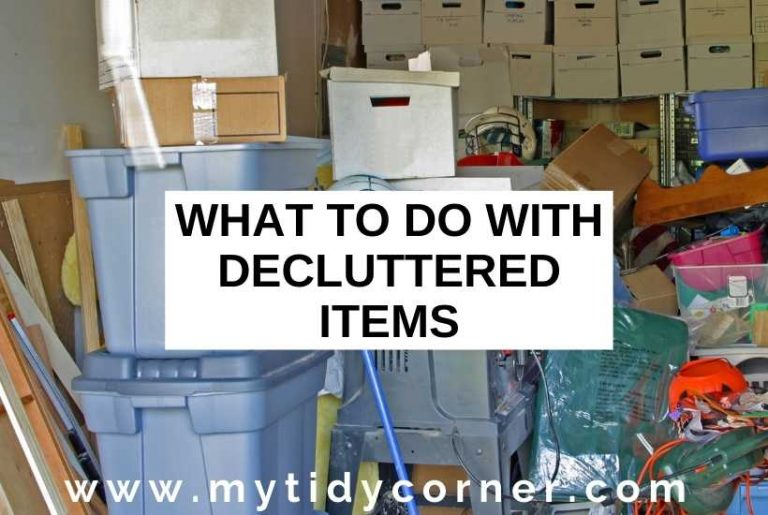 What to do with decluttered items