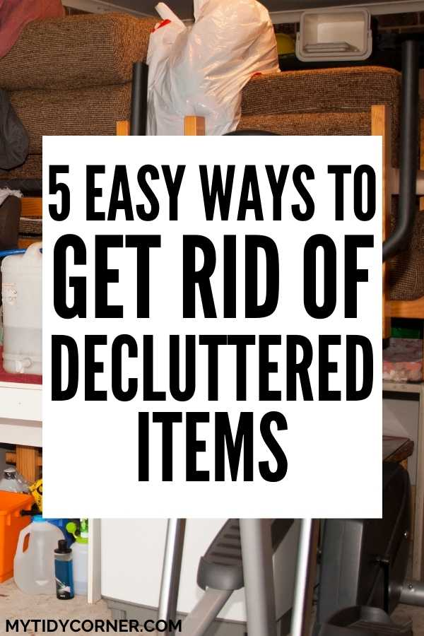 What to do with decluttered stuff