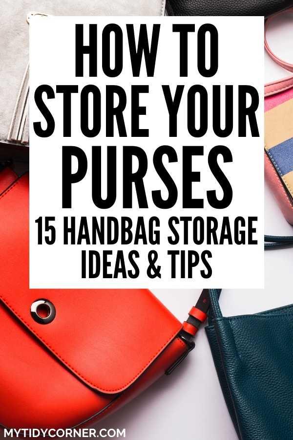 How to store handbags