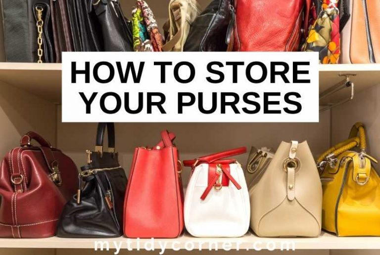 How to store purses - storage ideas