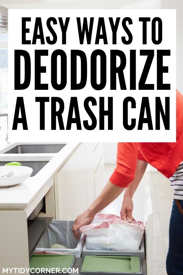 How to deodorize a garbage can