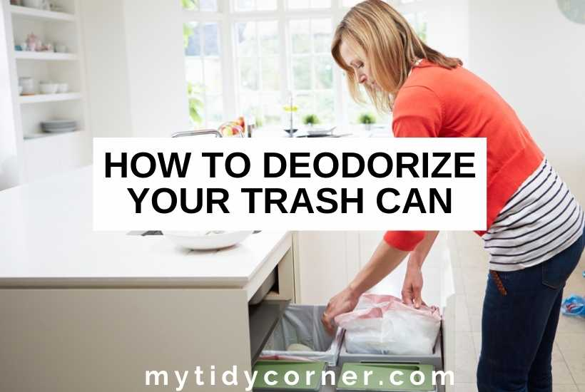 How to deodorize a trash can