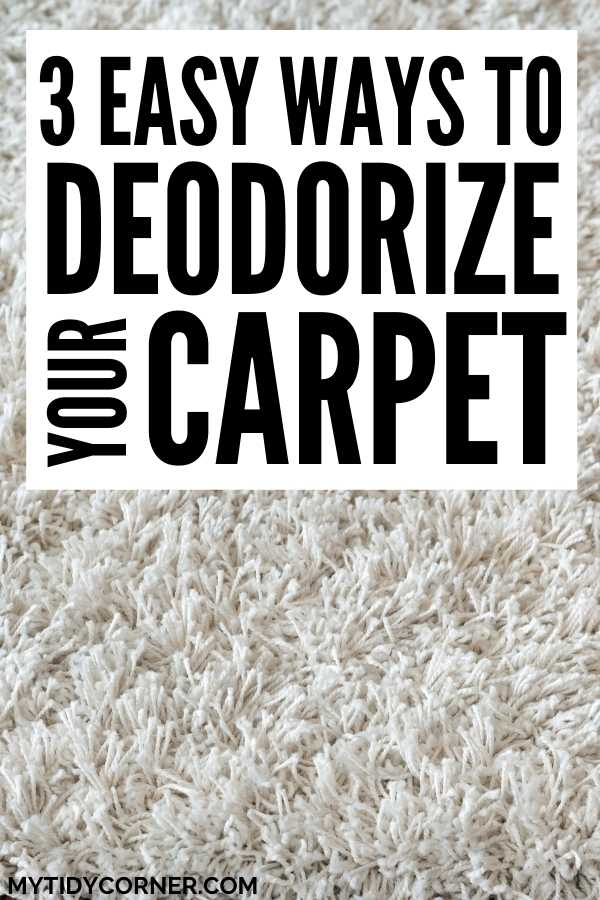 How to deodorize your carpet