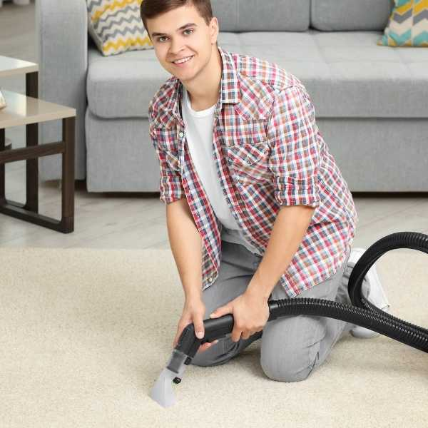 Cleaning area rugs with steam cleaner