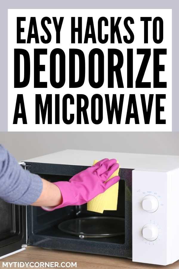 Deodorizing a microwave