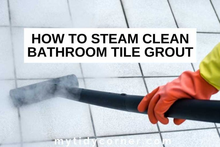 How to steam clean bathroom grout