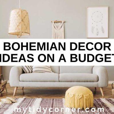 13 Bohemian Decor on a Budget