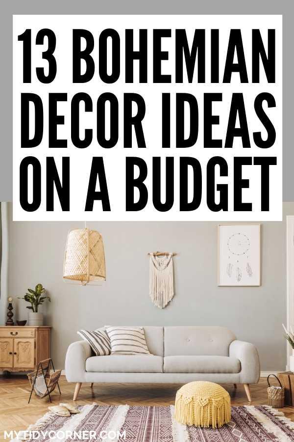 Boho decor on a budget