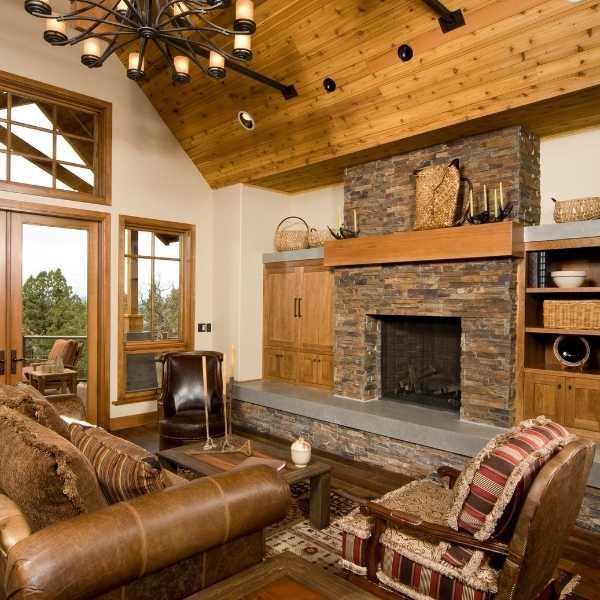 Rustic country interior decor