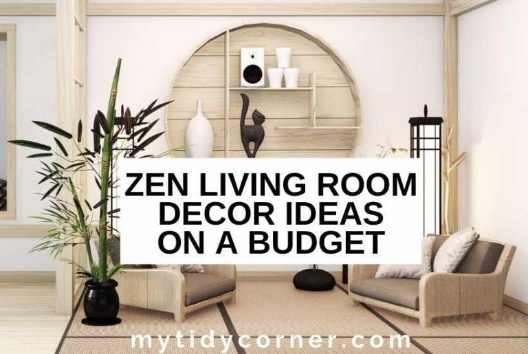 Zen living room on a budget